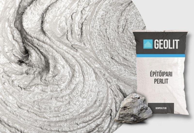 A Geolit építőipari perlit alkalmazható hőszigetelő vakolatok esetében is